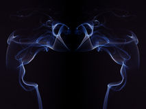 Colorful Smoke On Black Background Royalty Free Stock Photos