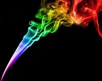 Colorful smoke on black background Stock Photo