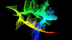Colorful smoke stock footage
