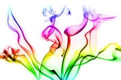 Colorful smoke clouds background Royalty Free Stock Photo