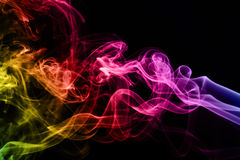 Colorful smoke clouds close up. Royalty Free Stock Photo