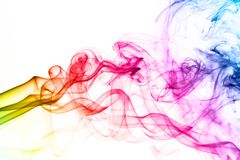 Colorful smoke clouds close up. stock photography