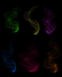 Colorful smoke clouds Royalty Free Stock Photo
