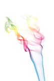 Colorful smoke isolated. Over white Royalty Free Stock Images