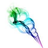 Colorful smoke of joss stick Stock Photo