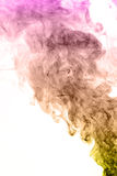 Colorful smoke on white background Royalty Free Stock Images