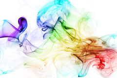 Colorful smoke on the white background Royalty Free Stock Images