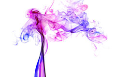 Colorful smoke on white background Royalty Free Stock Image