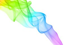Colorful smoke on white background. Stock Photo