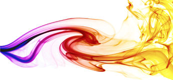 Colorful smoking wave Royalty Free Stock Photo
