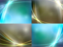 Colorful smooth light lines background. Royalty Free Stock Images