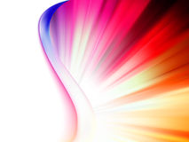 Colorful smooth twist light lines. EPS 8 Stock Image