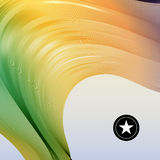Colorful smooth twist light lines vector background. Stock Image