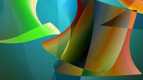 Colorful smooth twist shapes Royalty Free Stock Photography