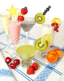 Colorful smoothie drinks Royalty Free Stock Photography