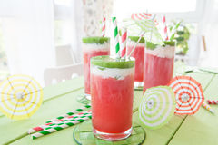Colorful smoothie with water melon Stock Photography