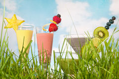 Colorful smoothies Stock Photography