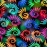 Colorful snail elements on mottled background Royalty Free Stock Photography