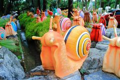 Colorful snail statue Stock Image