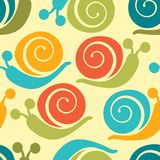 Colorful snails pattern Stock Photo