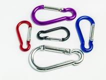 Colorful snap hooks Stock Image