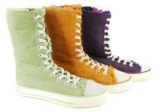 Colorful sneaker shoes Royalty Free Stock Photos