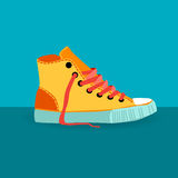 Colorful Sneaker Training Shoe Foot Wear Icon Royalty Free Stock Photos