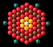 Colorful snooker balls arrange in hexagonal shape Stock Photos