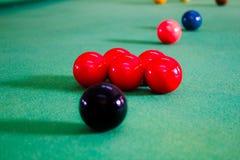 Colorful of snooker balls Stock Photos