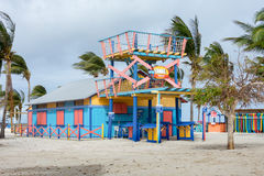Colorful Snorkel Shack cabin Stock Photography