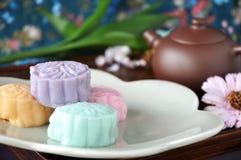 Colorful Snow Skin Mooncake Stock Photos