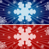 Colorful snowflake banners Stock Image