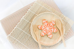 Colorful snowflake cookies Stock Images