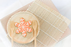 Colorful snowflake cookies Stock Photo