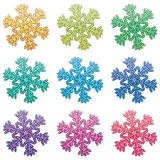 Colorful snowflakes Stock Photo