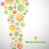 Colorful Snowflakes Christmas Background Stock Photo