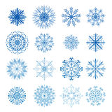 Colorful snowflakes Royalty Free Stock Image