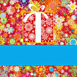 Colorful snowflakes pattern gift card. EPS 8 Stock Images