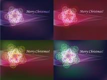 Colorful snowflakes set Stock Photo