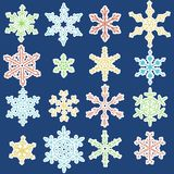 Colorful snowflakes Royalty Free Stock Photo