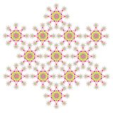 Colorful snowflakes star Royalty Free Stock Photos