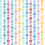 Colorful Snowflakes Stripes Seamless Pattern Royalty Free Stock Image