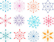 Colorful snowflakes Stock Images