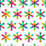 Colorful snowflakes, vector seamless pattern. New Year or Christ Stock Image