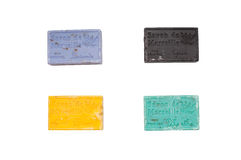 Colorful soap bars in different colors Royalty Free Stock Photo