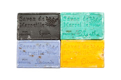 Colorful soap bars in different colors Stock Images