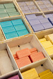 Colorful soap bars in the French Provence Royalty Free Stock Image