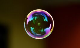 Colorful soap bubble Stock Photo