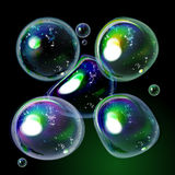 Colorful soap Bubble collection in vector. Stock Photos
