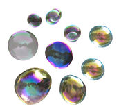 Colorful soap bubble collection Royalty Free Stock Photo